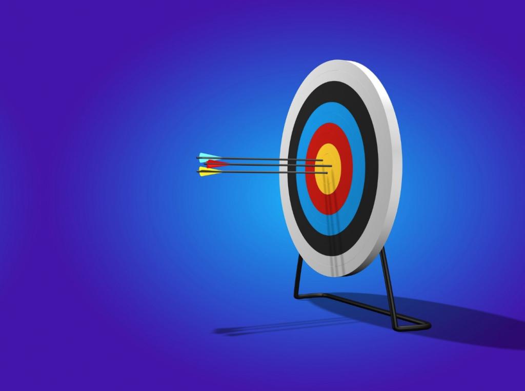Arrows hitting the bullseye