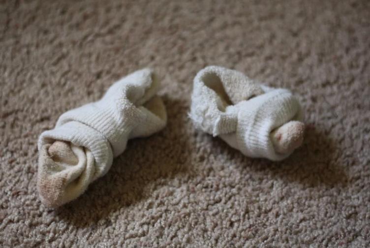 Socks inside out